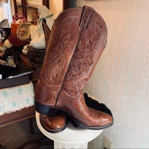 Vintage Justin Chestnut Cowboy Boots, like new